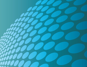 Light teal background with circles