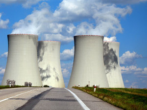 Chimneys of nuclear station