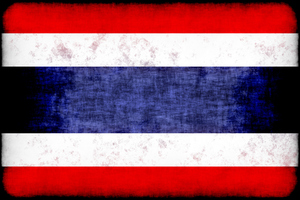 Thailand flag with grunge texture