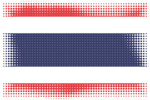 Thai flag halftone pattern