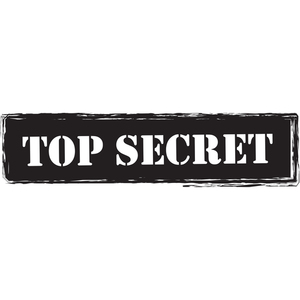 Top secret rótulo preto