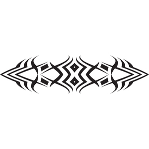 Decorative tribal design element