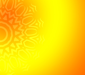 Yellow background with ornament