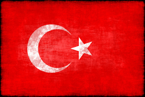 Turkish flag with grunge texture