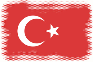 Turkish flag halftone pattern