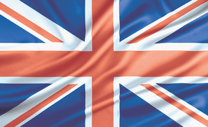 Flag of United Kingdom with texture