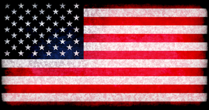 American flag with dark overlay