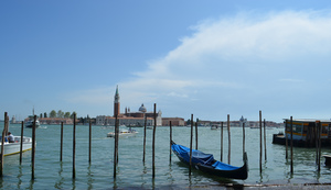 Wooden piles in Venice