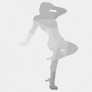 Grey silhouette of a girl