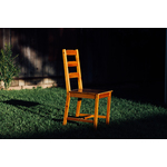 Wooden chair in the yard