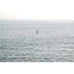 Paddleboarding on the sea