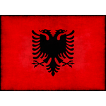 Flag of Albania with dark overlay
