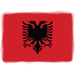 Albanian flag with soft edges