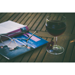 Book and the wine glass
