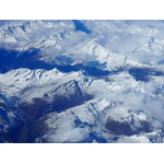 Alps in aerial view