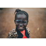 African girl smiling