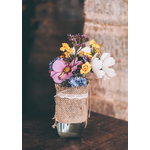 Simple vase with flowers