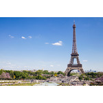 Eiffel tower in sunny day