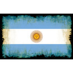 Argentine flag with burnt edges