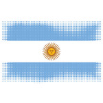 Flag of Argentina halftone effect