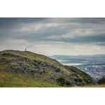 Man in Arthur's Seat, Edinburgh,UK