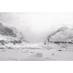 Snow-covered Athabasca Glacier, Canada