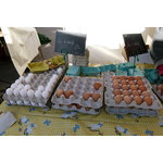 Eggs on a market
