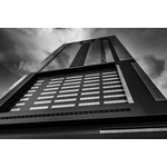 Black and white tall building