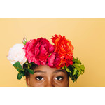 African girl with roses in her hair