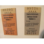 Retro train tickets