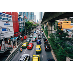Crowded streets of Bangkok