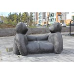 Black bears sculpture