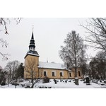 Countryside church in winter