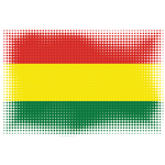 Halftone effect flag of Bolivia