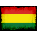 Flag of Bolivia with black frame