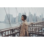 Asian girl in Brooklyn, New York,US