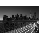 Brooklyn Bridge and NY in black and white