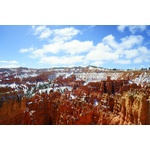 Bryce Canyon, National Park with snow cover