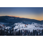 Bukovel mountain sunset