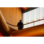 Businessman on a staircase