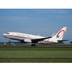 Royal Air Maroc Boeing 737-7B6 takes off