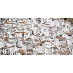 White homes in Casares, Spain