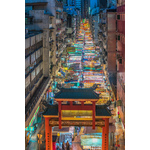 Colorful Asian street market
