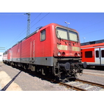 Red electric locomotive