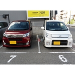Two Daihatsu move custom cars
