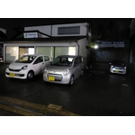 Cars of Daihatsu brand on parking