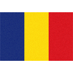 Flag of Romania with grainy texture