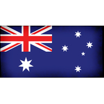 Australian flag black ink overlay