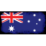Australian flag inside black frame