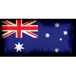 Flag of Australia with black edges